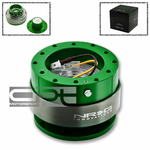 NRG 6-HOLE STEERING WHEEL GREEN QUICK RELEASE HUB ADAPTER GEN 2.0 SRK-200GN