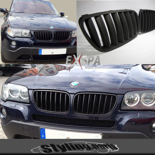 Passend für BMW E83 X3 FACELIFT ab 09/2006 - 2010 NIEREN GRILL MATT SCHWARZ
