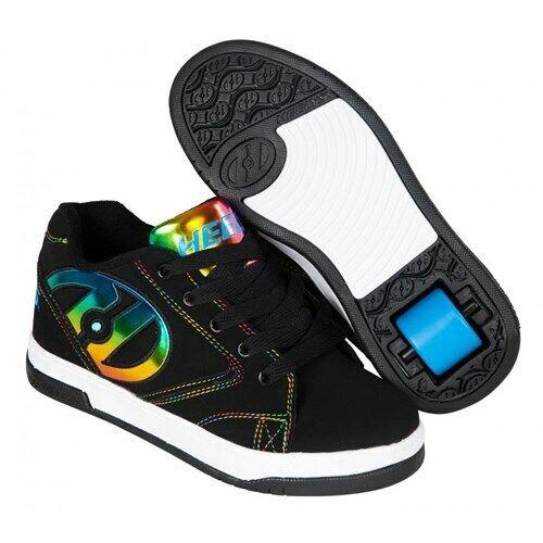 Girls Heelys Boys Heelys roller shoes Heelys Propel 2.0 Black//Rainbow Foil