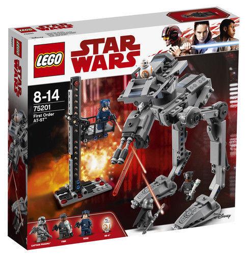 Lego Star Wars The Last Jedi de premier ordre AT-ST 75201 Entièrement neuf dans sa boîte Brand New & Sealed
