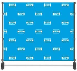 8x8 Photo Backdrop Banner + Hardware Stand (optional) - Photography booth banner, special events, indoor or outdoor use Canada Preview