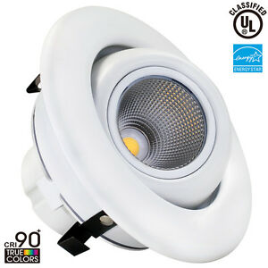 10W 4inch Dimmable Gimbal Directional LED Recessed Ceiling Downlight Warm Whi