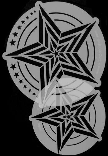 STAR TOOL HARDER /& STEENBECK AIRBRUSH LIGHT SPEED STENCILS