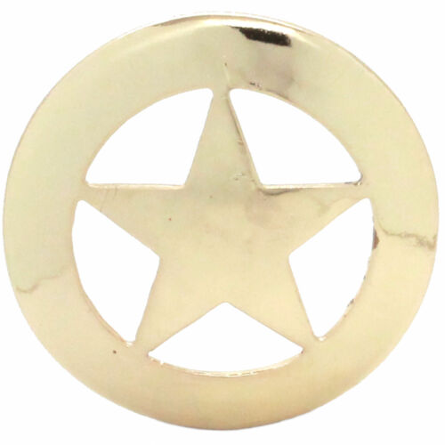 """Smooth Star Saddle Concho 3/"""" Brass Plate 7590-01 Special Run"""