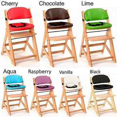 Mahogany//Chocolate Keekaroo Height Right Kids High Chair with Comfort Cushions