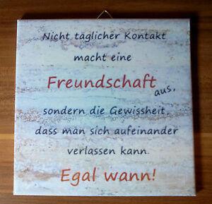 Details About Dekofliese Wandbild Bildfliese Freundschaft Spruch Beige 038dp Handarbeit