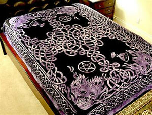 Celtic-God-Tapestry-Purple-Hippie-Medieval-Wicca-Wall-Hanging-Bedspread