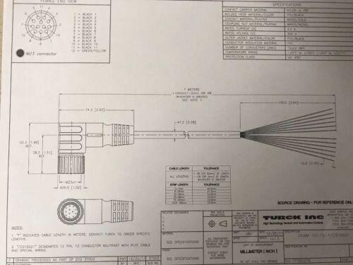 Turck CKWM 12-12-10//CS10021        10 Meters Long