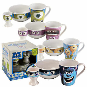 Enfants-Disney-Monsters-University-3-piece-set-de-petit-dejeuner-en-ceramique-bol-mug-pour-enfants