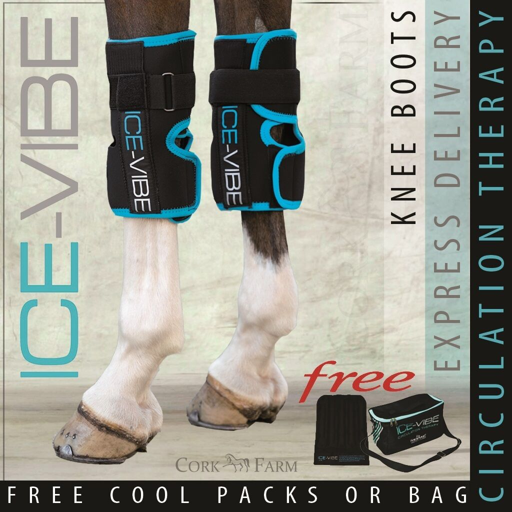 Horseware ICE VIBE KNEE Stiefel Coole Vibration Circulation Therapy Wraps NEUE STYLE