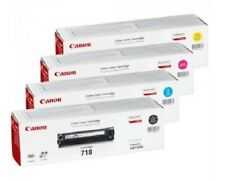 4 X TONER ORIGINALE CANON mf8330cdn mf8350cdn lbp-7200cdn/718 cartridge