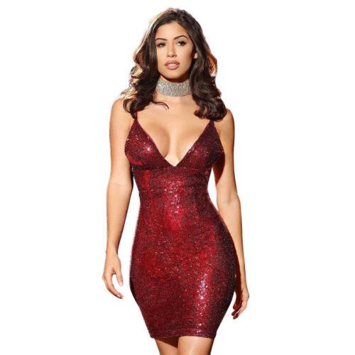 rosso strass Elegante 4683 abito abito corto evento corte maniche elegante nfq7Xf