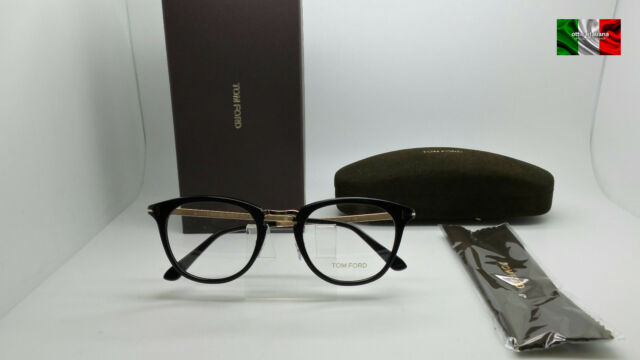 7c25bf54c979 Tom Ford Tf5466 001 Shiny Black and Gold Glasses for sale online | eBay