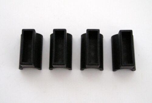 "4 Top Quality Carver Brand Black Nylon Rail Mount Bow Sockets for 7//8/"" Tubing"