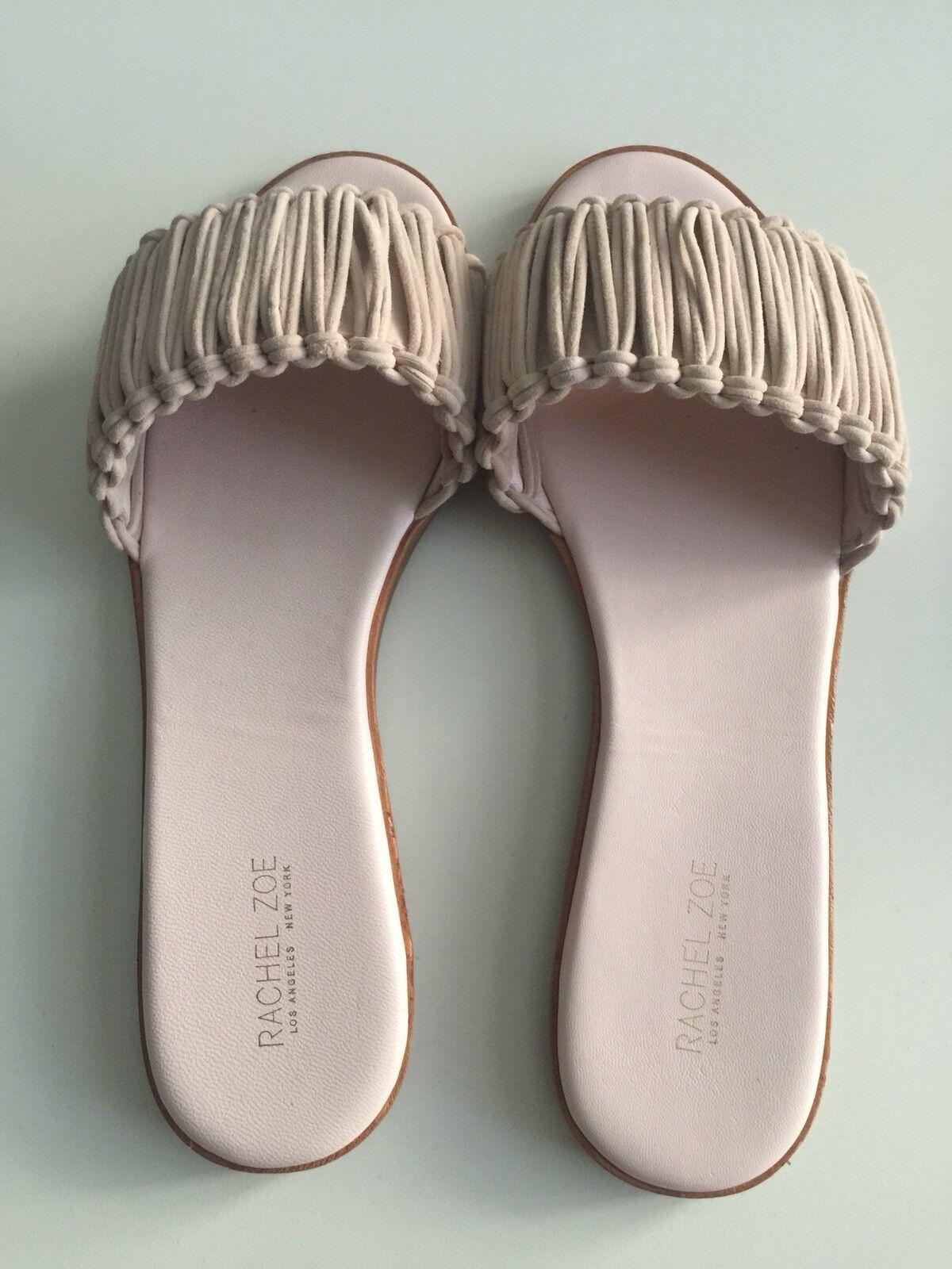 Rachel Zoe donna's Raina Blush Flat Sandal, Dimensione 7, brand new