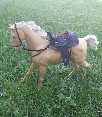MARX Johnny West  horse custom tooled western  Saddle set two eared bridle