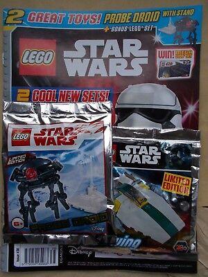 MINT UK EDITION 50 LEGO STAR WARS MAGAZINE #50 2X LEGO SETS TOYS GIFT B-WING OBI