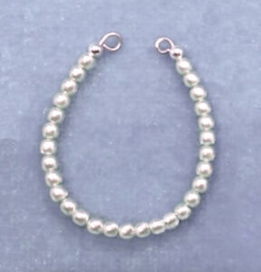 Barbie-Dreamz-WHITE-ALL-SMALL-PEARL-w-SILVER-WIRE-Choker-Necklace-Doll-Jewelry
