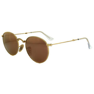 3944029acf Ray-Ban Sunglasses Round Folding 3532 001 Z2 Gold Copper Mirror 50mm ...