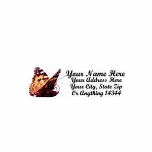 butterfly personalized address labels 30pcs design 1 free us