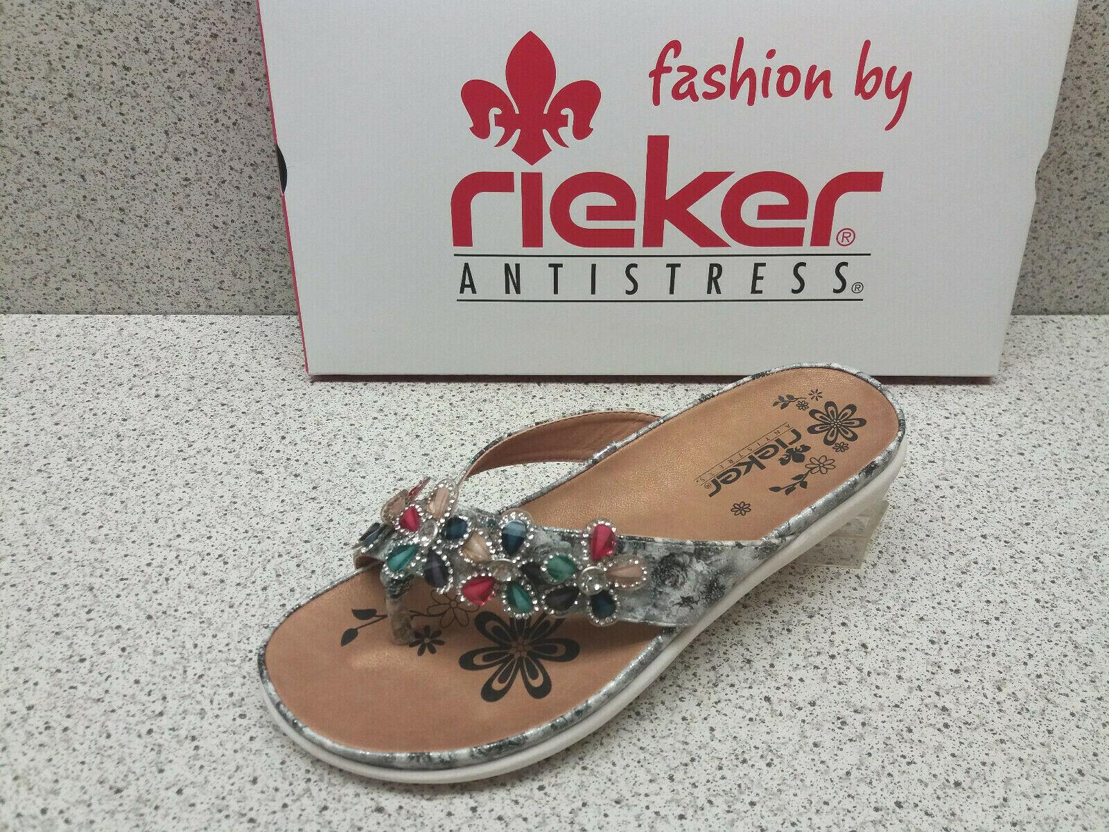 Rieker ® TOP PRIX Mules Nouveau zehensteg à la mode (r518)