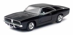 1969-Dodge-Charger-R-T-Black-NewRay-Muscle-Car-Collection-Car-Model-1-25