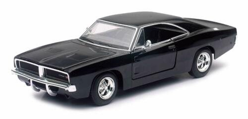 auto modello 1:25 1969 DODGE CHARGER R//T Nero NewRay Muscle Car Collection