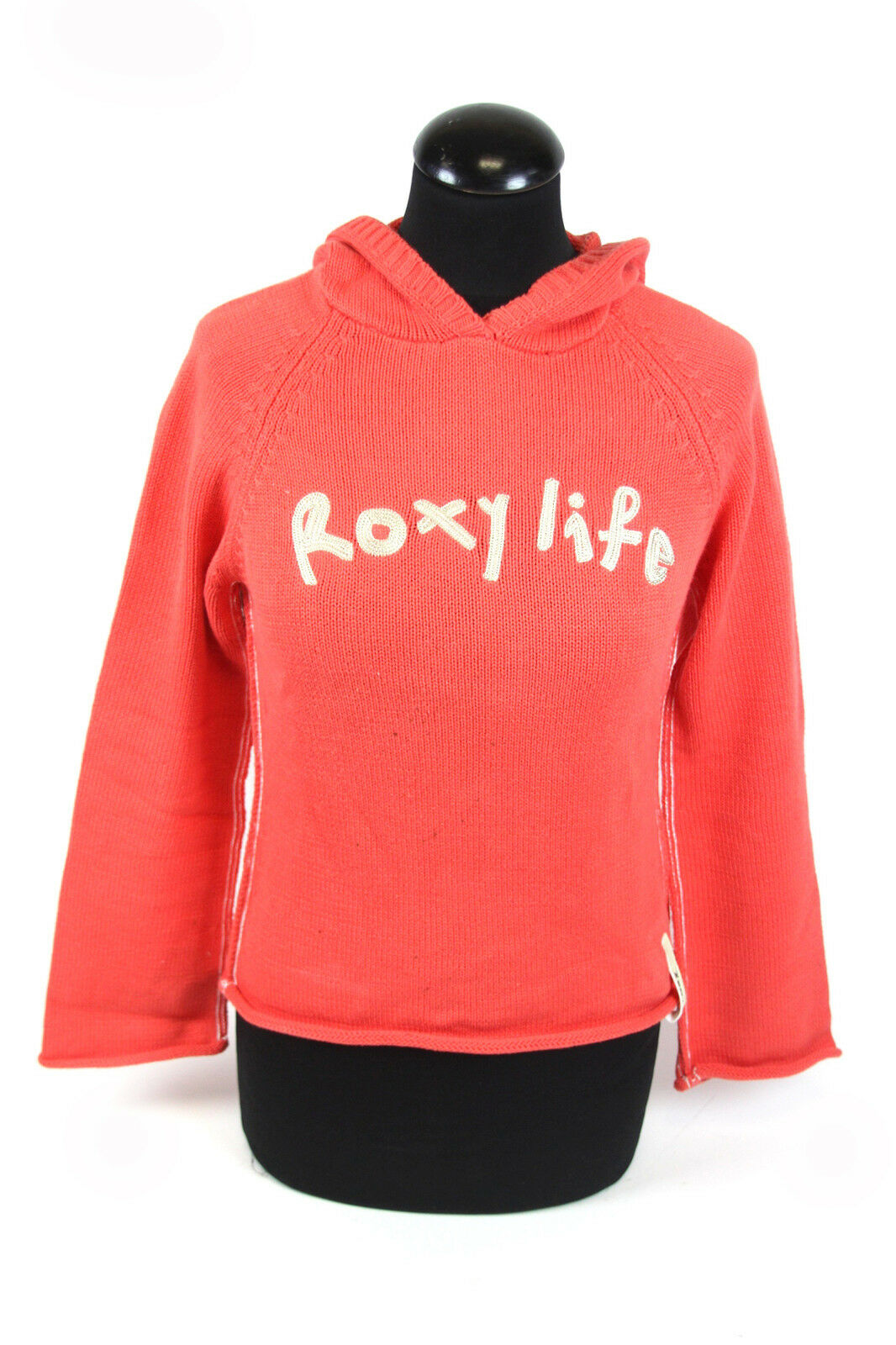 Quicksilver Roxy Life Womens Hoodie Size S/M Orange Knitted Jumper