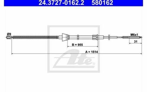 ATE Câble de frein à main pour SEAT IBIZA VOLKSWAGEN POLO 24.3727-0162.2