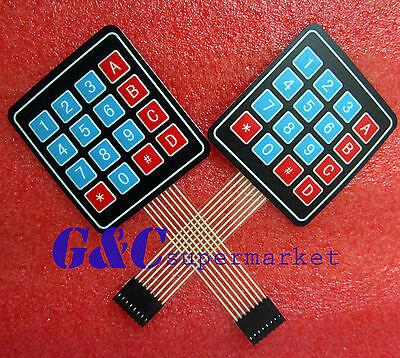 2PCS 4 x 4 Matrix Array 16 Key Membrane Switch Keypad Keyboard GOOD QUALITY M29