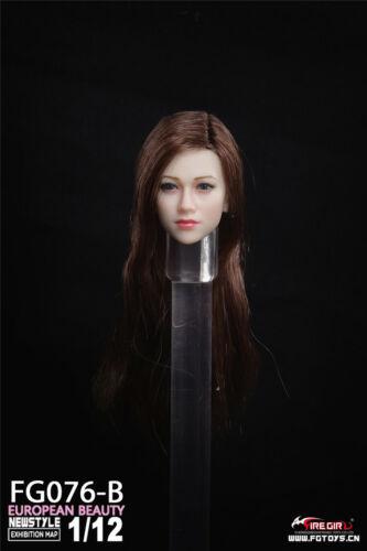 "Fire Girl Toys 1//12 FG076 Anna Head Sculpt For 6/"" Pale TBL Figure Body Presale"