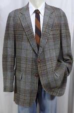 Vintage 60s TAILORMANN Plaid Tweed Sport Coat/Blazer 42R 3/2 Roll Sack