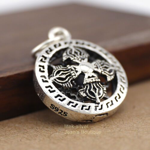 925 Sterling Silber Anhänger Tibeter Vajra Dorje Kettenanhänger DIY A2888