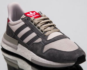 adidas Originals ZX 500 RM Men New Grey White Scarlet Lifestyle ... a7bb6065f