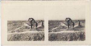 Grande Guerre Il Mulino Da Souain WW1 Foto Stereo Vintage Analogica