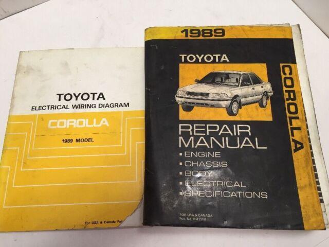1989 Toyota Corolla Oem Repair Manual And Electrical