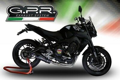 GPR Y.171.FUNE Yamaha Mt-09 Fz-09 2014//15 Homologated Slip-On Exhaust System