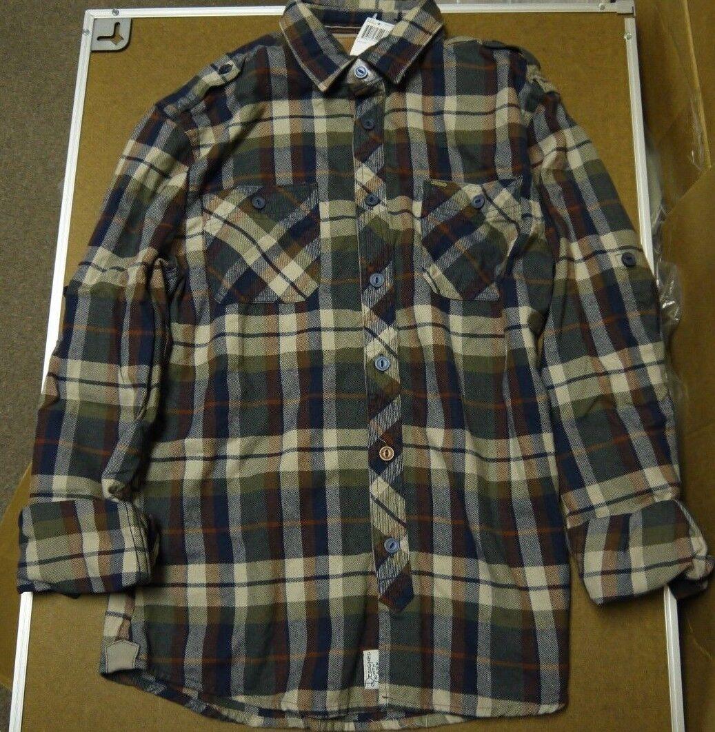 Buffalo  David Bitton para hombre de cuadros de manga larga camisa Brandy Combo Talla M-Xxl  tienda de ventas outlet