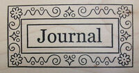 journal Wood Mounted Stamp By Outlines Rubber Stamps