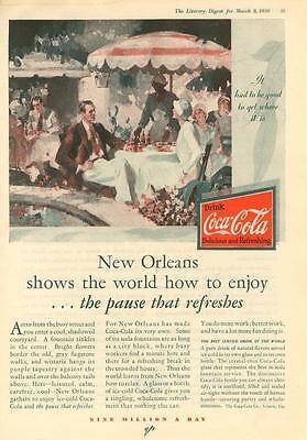 Coca Cola - New Orleans - Sidewalk Cafe -  1930