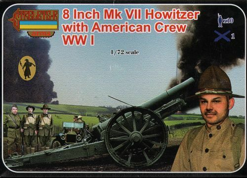 VII HOWITZER avec American Crew environ 20.32 cm Wwi MK Strelets 1//72 8 in # A002
