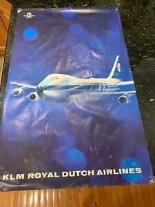 KLM-Royal-Dutch-Airlines1919-1969-50th-Anniversary-Original-Travel-Poster-747