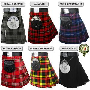 Mens Kilt, 5 Yard Scottish Kilts, 18oz Kilt Casual Kilt, Eight Tartans NEW KILTS