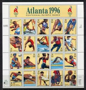36344-USA-1996-MNH-Olympic-Games-20v-m-s
