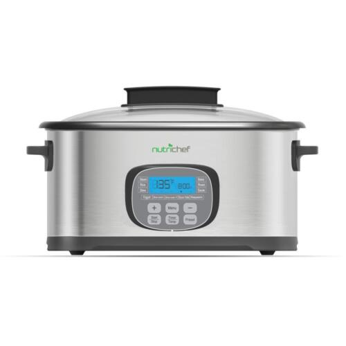 Multi Cooker 11 in 1 Sous Vide Stainless Steel Purple with LCD Display