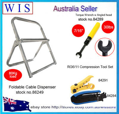NBN Tools HFC RG6,RG6 Torque Wrench,RG6//11 Compression Tool,Cable Caddy RG6//RG11