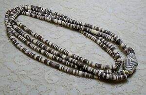 MULTI-STRAND-BROWN-amp-CREAM-COLOR-HEISHI-LUCITE-BEADED-STATEMENT-NECKLACE-36-034