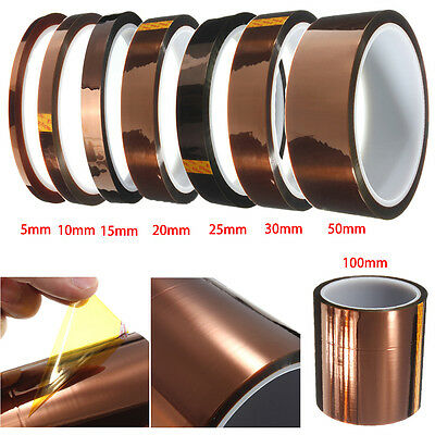 Lot 5/10/15/20/25/30/50/100x33m 300℃ High Temperature Polyimide Tape BGA