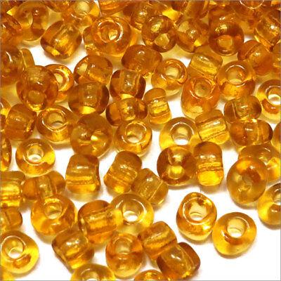 6//0 Perles de Rocailles en Verre Transparent 4mm Vert foncé 20g env 250 pcs