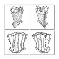 Corset Making Supplies: Stays & Corsets Sewing Pattern - 4 Variations